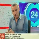 Nuevo Sistema Electoral – Ernesto San Martín – Canal 24 Horas