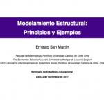 Seminario de Estadística Educacional: Modelamiento estructural; Principios y Ejemplos